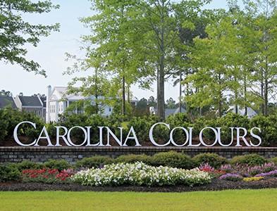 Entrance and sign at Carolina Colours in New Bern, North Carolina