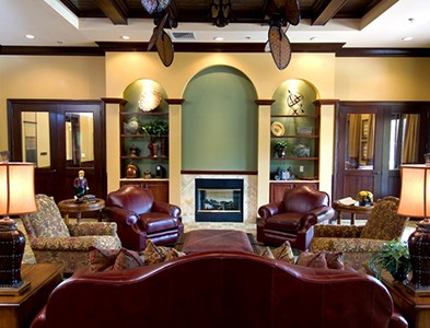 Sweetwater by Del Webb – Florida 55+ Communities - Clubhouse interior lounge and bar at Sweetwater by Del Webb in Jacksonville, Florida