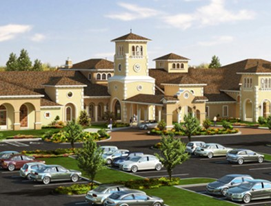 Community clubhouse at Del Webb Naples in Ave Maria, Florida