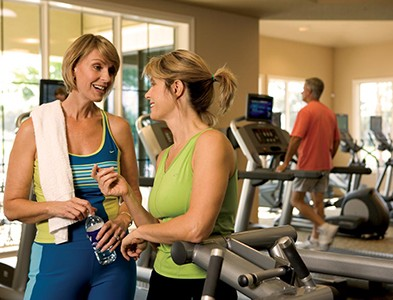 Women at fitness center gym at Plantation Bay Golf and Country Club