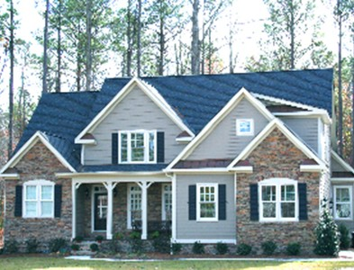 Two story house exterior at Carolina Colours in New Bern, North Carolina