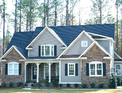 Two story house exterior at Carolina Colours in New Bern, North Carolina