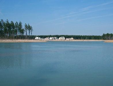 Waterfront and beach at Carolina Colours in New Bern, North Carolina