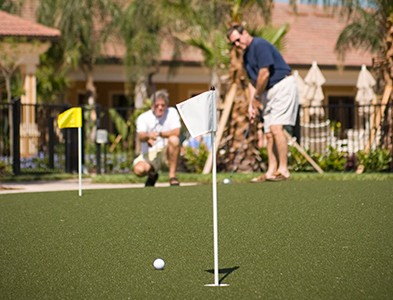 Putting green and golf at Del Webb Southshore Falls in Apollo Beach Florida