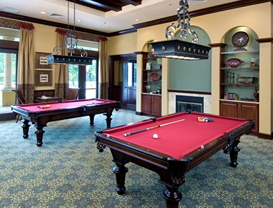 Sweetwater by Del Webb – Florida 55+ Communities - Billiards room at Sweetwater by Del Webb in Jacksonville, Florida