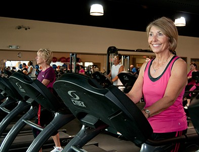 Fitness center and gym woman at On Top of the World Communities in Ocala, Florida