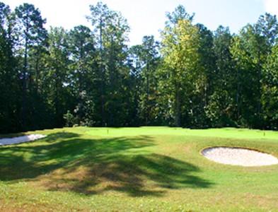 Golf course green at Carolina Colours in New Bern, North Carolina