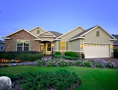 House exterior and lawn at On Top of the World Communities in Ocala, Florida