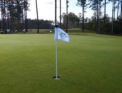 Putting green at the golf course at Carolina Colours in New Bern, North Carolina