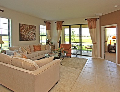 House interior living room at Del Webb Southshore Falls in Apollo Beach Florida