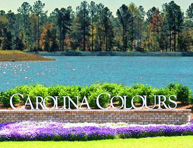 Entrance and water at Carolina Colours in New Bern, North Carolina