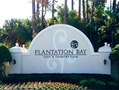 Community entrance at Plantation Bay Golf and Country Club