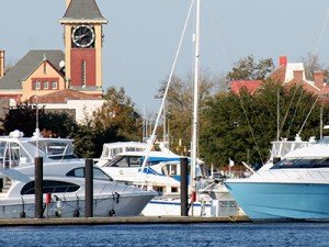 Town marina at Carolina Colours in New Bern, North Carolina