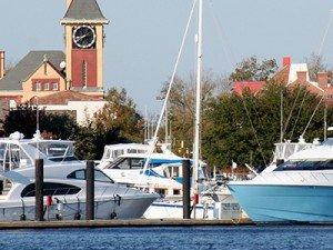 Town marina at Carolina Colours in New Bern, North Carolina