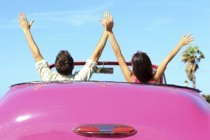 Couple in Pink Car