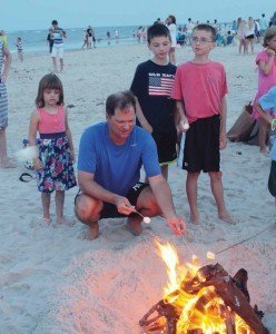 Campfire on Bald Head Island