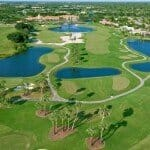 Florida Gated Golf Communities | Wycliffe Golf & Country Club Aerial of Golf Course