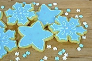 Holiday Desserts - Sugar Cookies - Snowflakes - Christmas Cookies