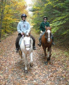 1.On the trail, in Canaan, are Richard atop Youngin and his niece Samantha riding Esperanza.