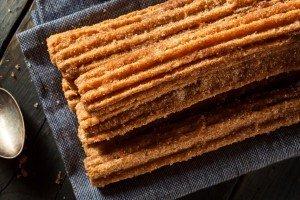 Homemade Deep Fried Churros with Cinnamon and Sugar