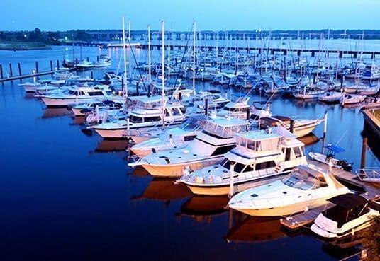 North Carolina Gated Communities | Carolina Colours Boats Docked