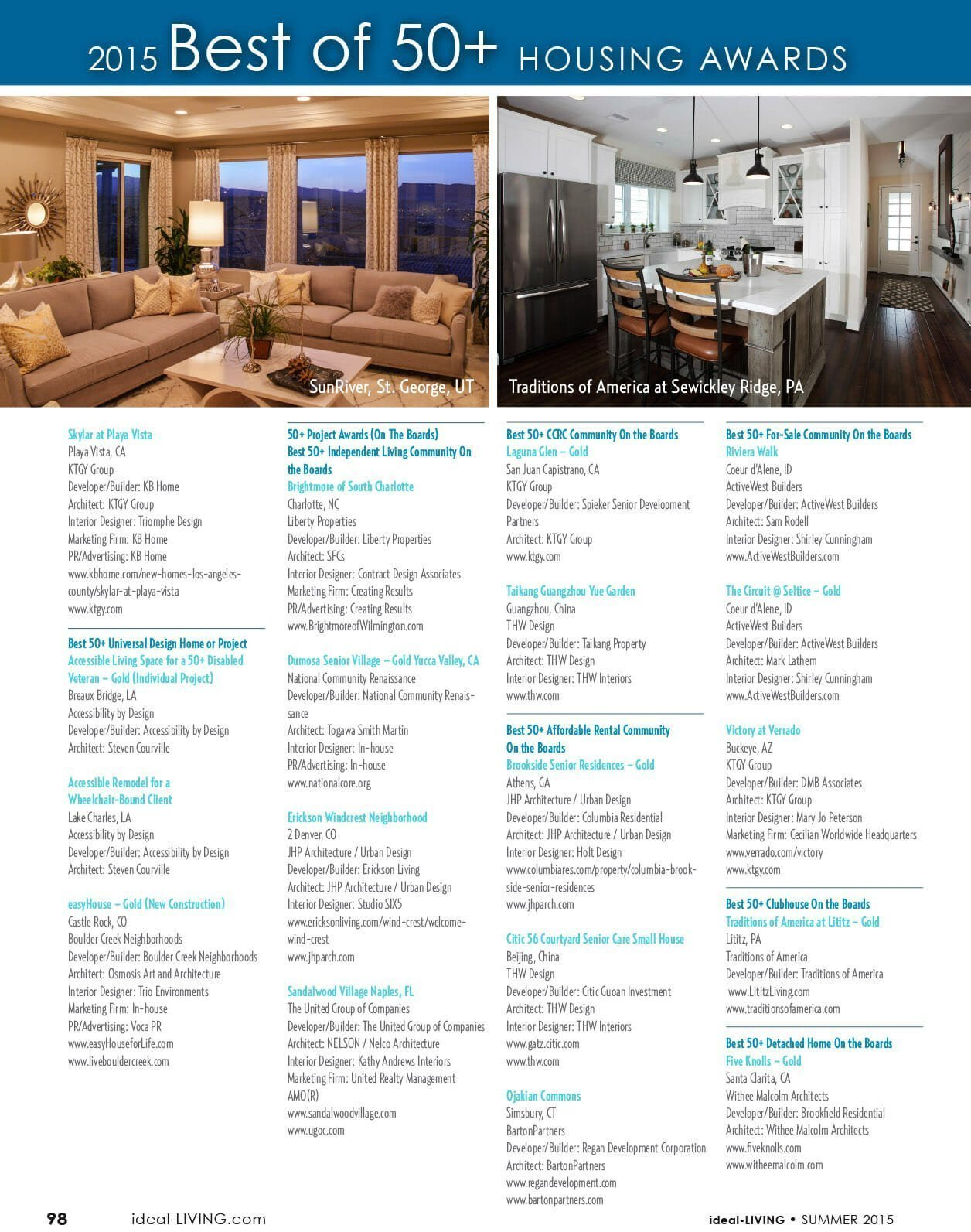 2015 Best of 50+ housing awards page 5