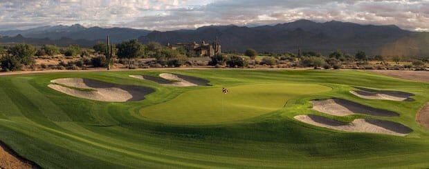 Vista Verde Golf Club 17405 E. Desert Vista Trail, Rio Verde, AZ 85263 Hole #4, 133yd. Par 3