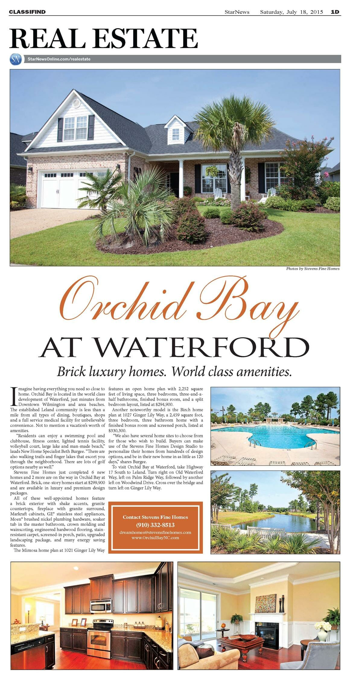 Orchid Bay, New Homes Making Headlines