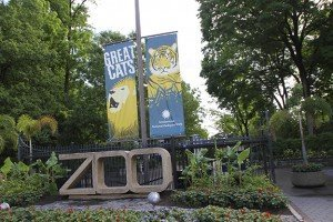 Washington DC, USA - may 15, 2012. The entrance to the Smithsonian national Zoological Park