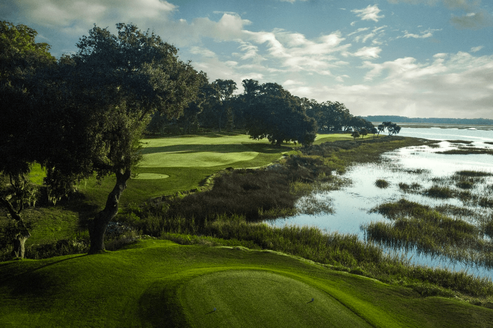 (Photo taken from the front tee of Cotton Dike #9)