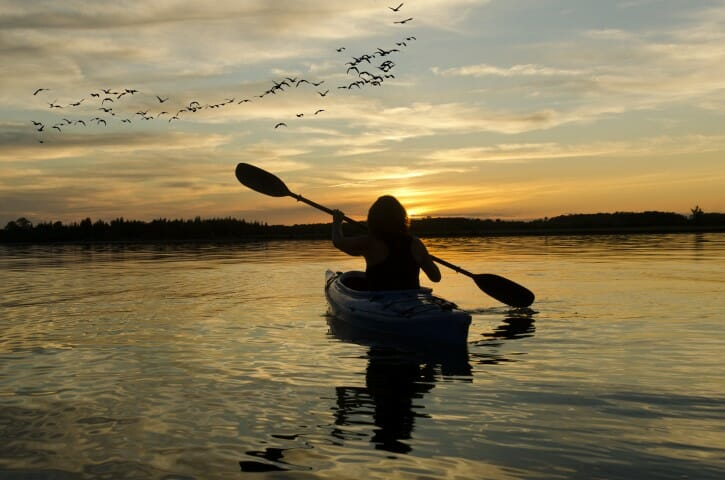 sunset kayaker (Small)
