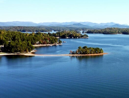 Keowee Key with Mountains