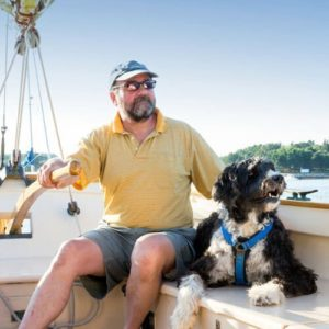 Sailing with Man's best friend at Keowee Key community on South Carolina's Lake Keowee
