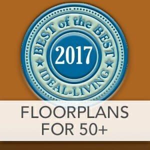Best Floorplans for 50+ of 2017