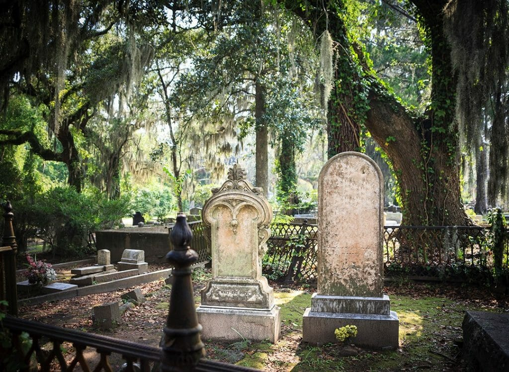 Cemetery Tombstones in Savannah, GA