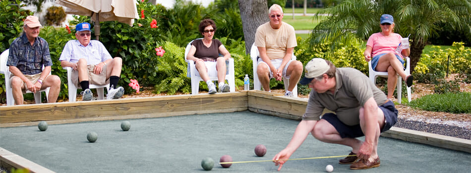 Bocce is a super social, relaxing and fun game.